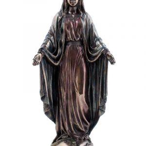 Verbronsde Hlg. Maria met open armen beeld 26 cm kopen webshop