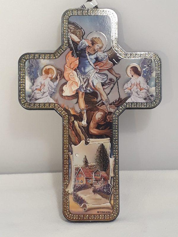 Icoonkruis van Engel Michael 18 cm kopen online