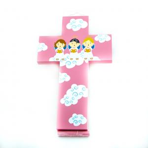 Kinder Muurkruis Roze 20 cm kopen online