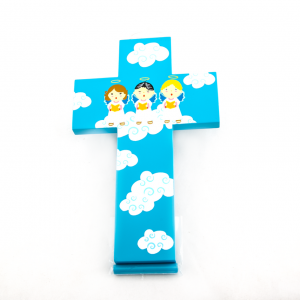 Kinder Muurkruis Blauw 20 cm kopen online