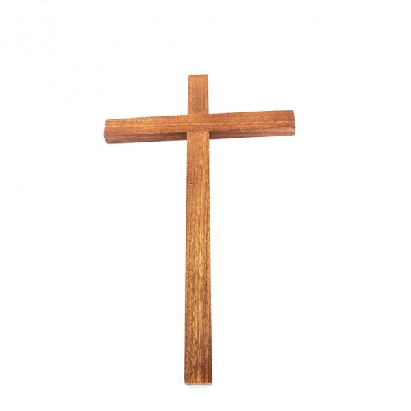 Muurkruis zonder corpus 33 cm hout kopen online
