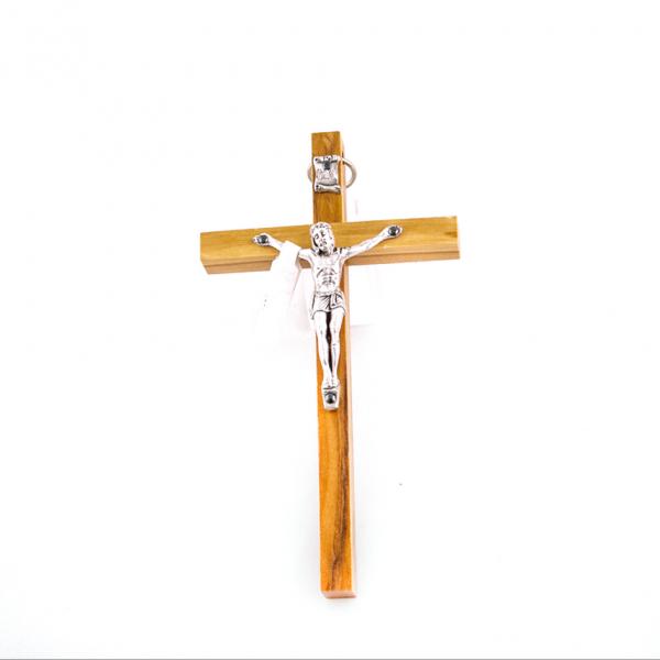 Houten Muurkruis met Corpus / Kruisbeeld Olijfhout 13 cm kopen