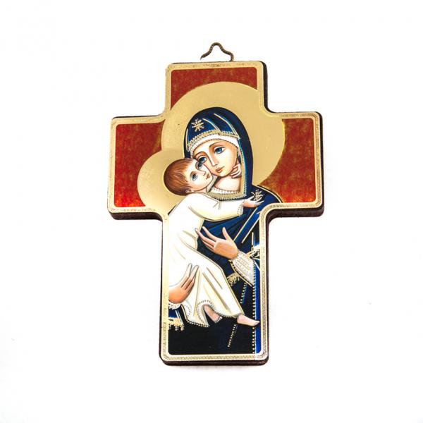 Icoonkruis Hlg. Maria met kindje Jezus 13x9 cm kopen
