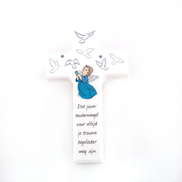 Kind kruis met beschermengel Nederlandse tekst Bestellen online doopsel Communie