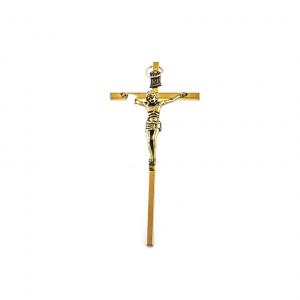 Bronzen Muurkruis met Corpus / kruisbeeld 11 x 5,5 cm te koop online
