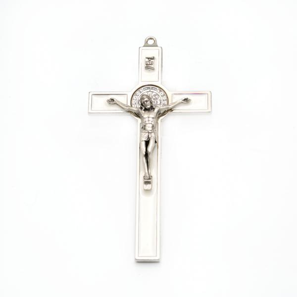 Hlg. Benedictus Muurkruis Wit 13,5 cm kopen online