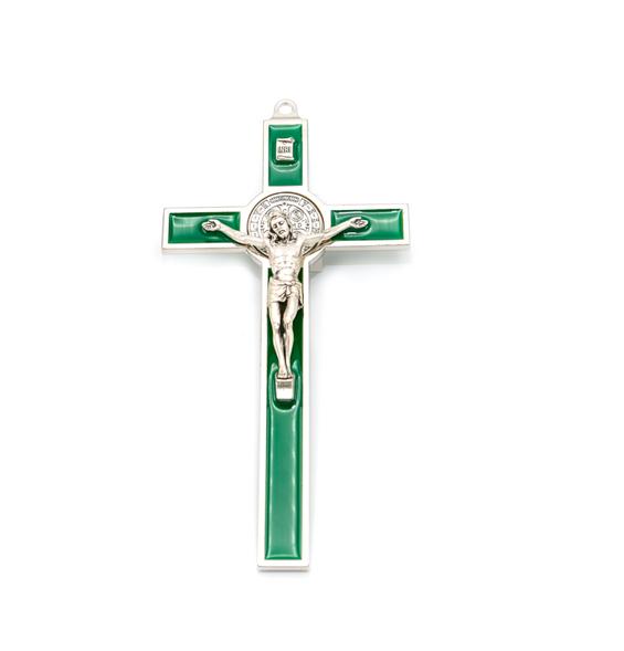 Hlg. Benedictus Muurkruis Groen kopen online