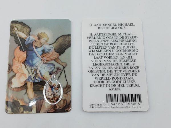 Bidprentje engel Michael met gebed online kopen