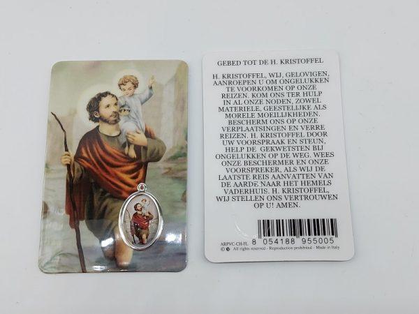 Bidprentje Heilige Christoffel met gebed online kopen