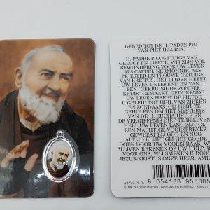 Bidprentje Pater Pio met gebed online kopen