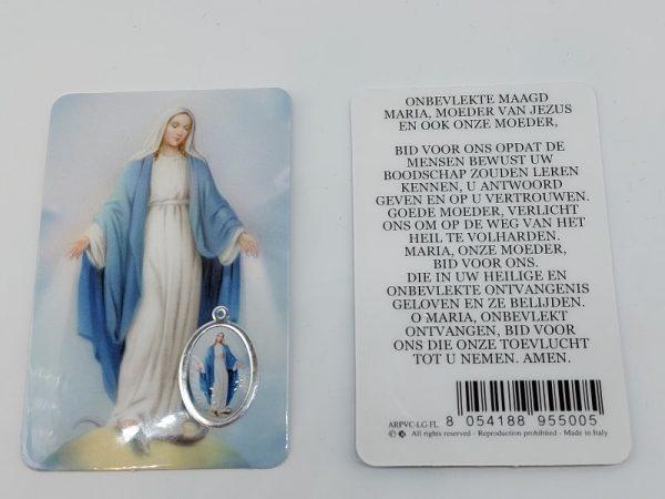 Bidprentje Maria Wonderdadig met gebed online kopen