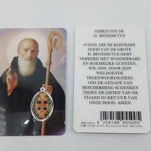 Bidprentje Heilige Benedictus met gebed online kopen