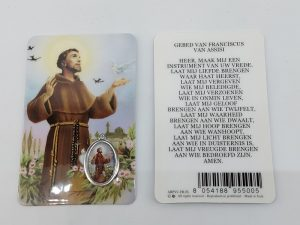Bidprentje Heilige Franciscus met gebed online kopen