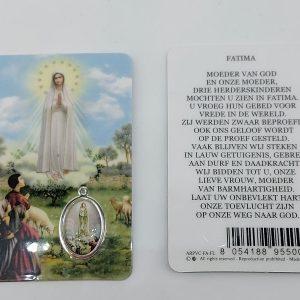 Bidprentje Maria Fatima met gebed online kopen
